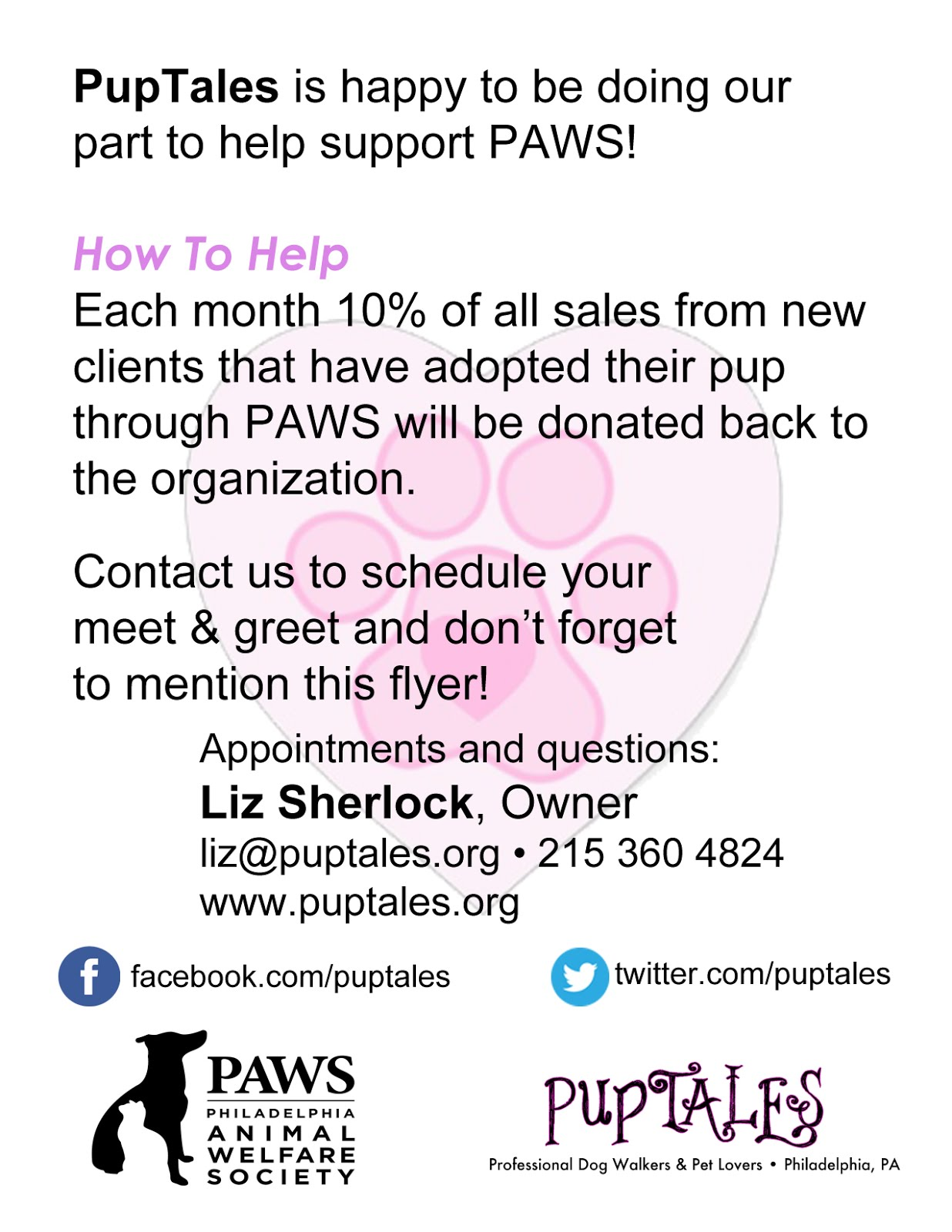 PAWS fliers